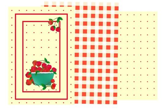 Cherries Tea Towels